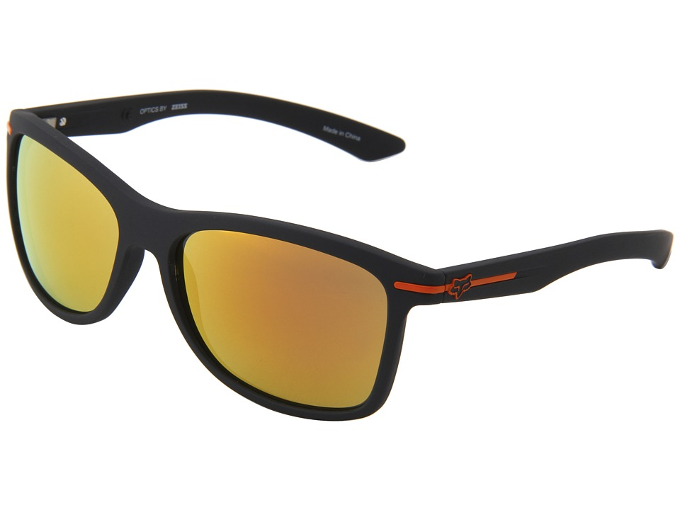 Fox - The Double Deuce (Matte Black/Orange Spark) Athletic Performance Sport Sunglasses