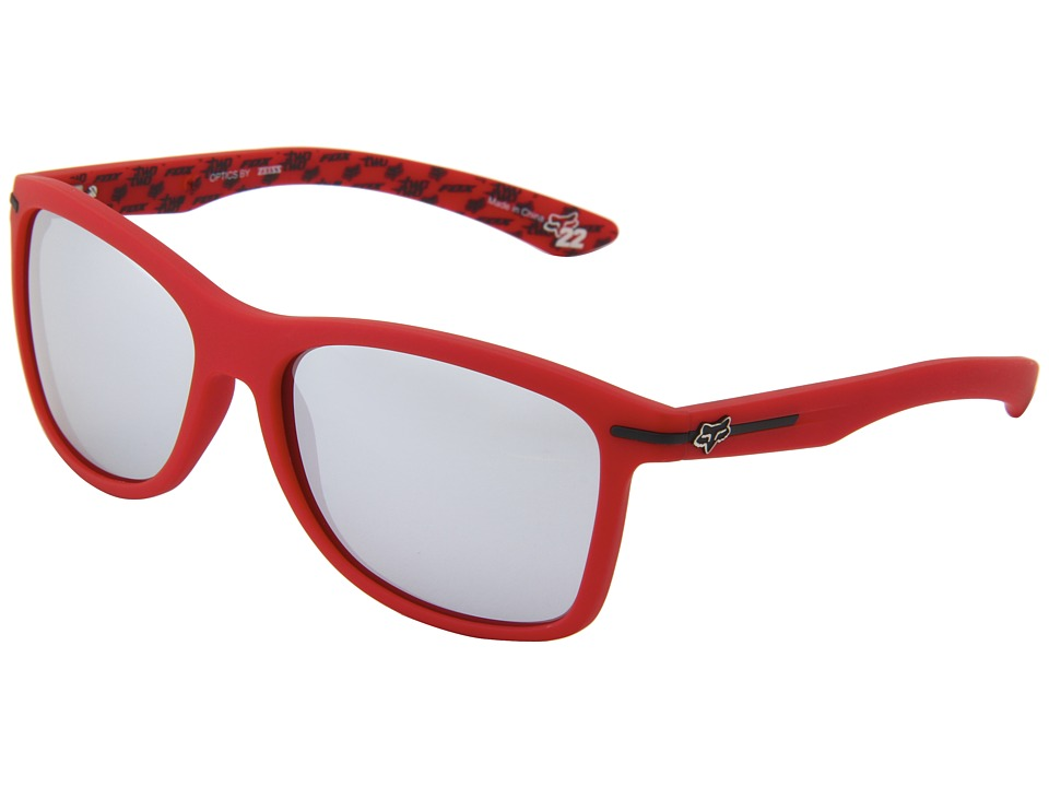 Fox - The Double Deuce (Matte Red/Chrome Spark) Athletic Performance Sport Sunglasses