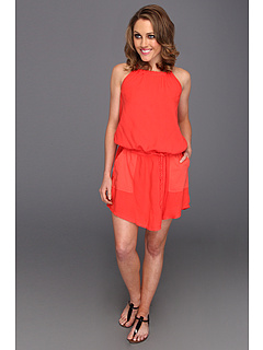 SALE! $34.5 - Save $104 on Michael Stars Clover Halter Tie Waist Dress (Pepper) Apparel - 75.00% OFF $138.00