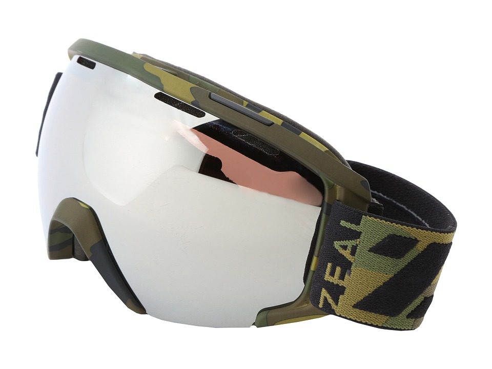 Zeal Optics - Slate (Geronimo + Optimum Lens W/Metal Mirror) Goggles