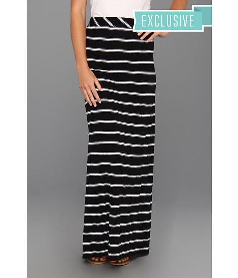 Michael Stars - Hampton Stripe Maxi Skirt (Black) Women