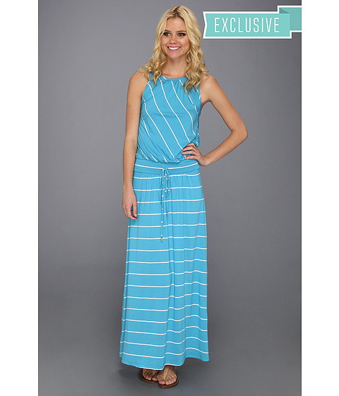 Michael Stars - Harlow Stripe Maxi Dress (Atlantic) Women's Dress