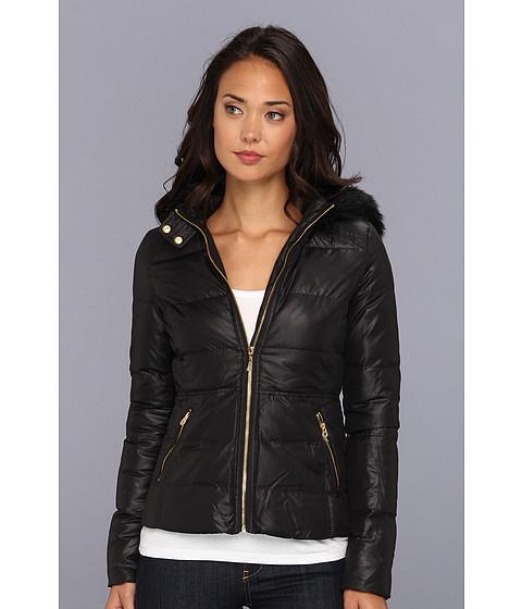 Juicy Couture - Whitney Nylon Puffer Jacket (Pitch Black) Women's Coat