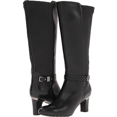 Blondo Prielle (Black Nativo Leather Ruched Gore) Footwear