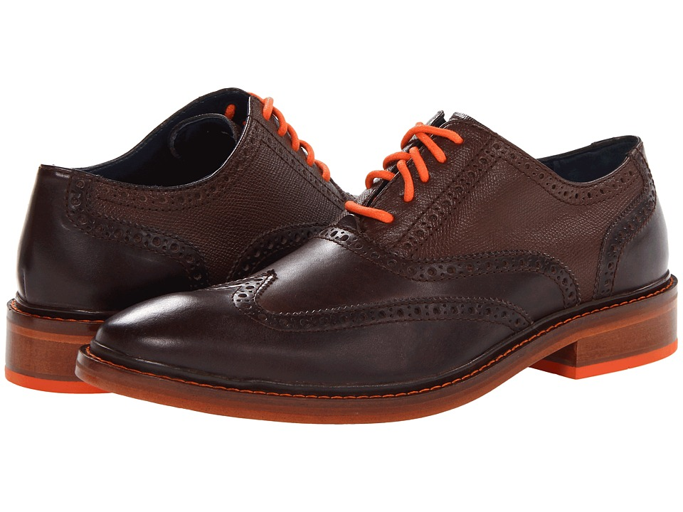 Cole Haan - Colton Winter Wing Ox (Chestnut/Chestnut Grain/Corporate Orange) Men's Lace Up Wing Tip Shoes