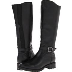 Blondo Valente Wide Calf (Black Tucson Leather) Footwear