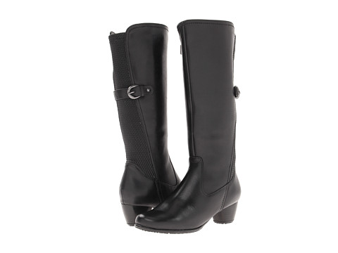 Blondo - Acia (Black Tucson Leather & Ruched Gore) Women