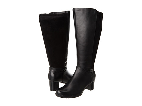 Blondo - Nicky (Black Tucson Leather & Stretch Ultra Suede) Women's Dress Boots