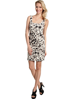 SALE! $61.99 - Save $183 on Nicole Miller Miley Cotton Twill Dress (White Black) Apparel - 74.70% OFF $245.00