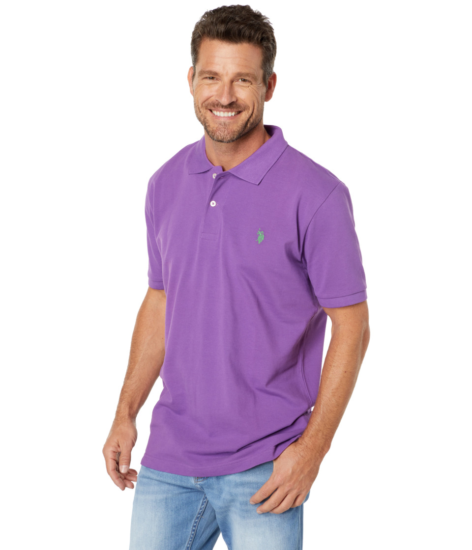 U.S. POLO ASSN. - Solid Polo with Small Pony (Purple Reign) Men's Short Sleeve Knit