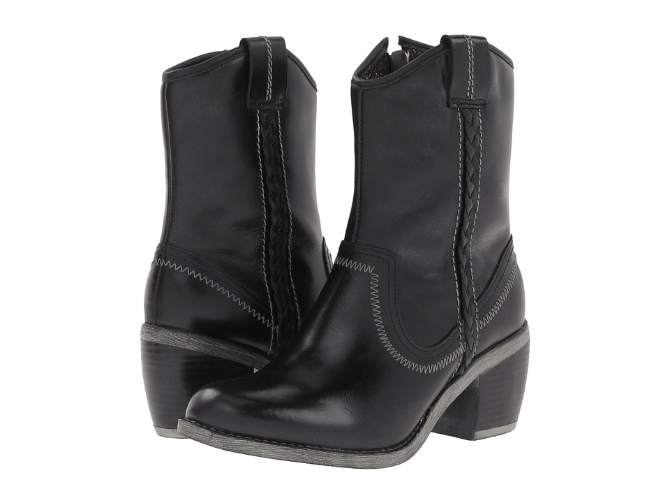 Hush Puppies - Rustique West ABT (Black WP Leather) Women's Waterproof Boots