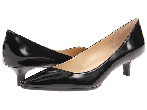 Calvin Klein - Diema Two-Tone Patent (Black) Women's 1-2 inch heel Shoes