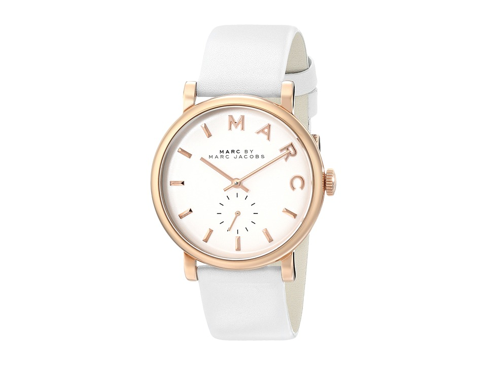 Marc by Marc Jacobs - MBM1283 - Baker (White/Rose Gold) Watches
