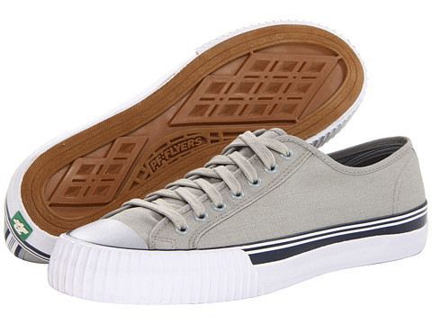 PF Flyers - Center Lo (Grey/Navy Canvas) Lace up casual Shoes