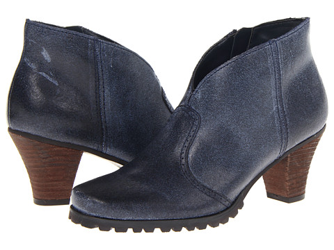 SoftWalk - Dakota (Faded Jeans Distressed Suede Leather) Women's Zip Boots