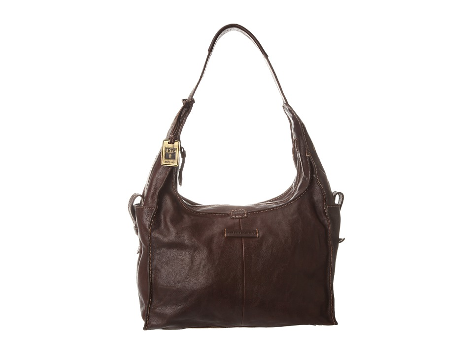 Frye - Artisan Hobo (Dark Brown Hammered Full Grain) Hobo Handbags