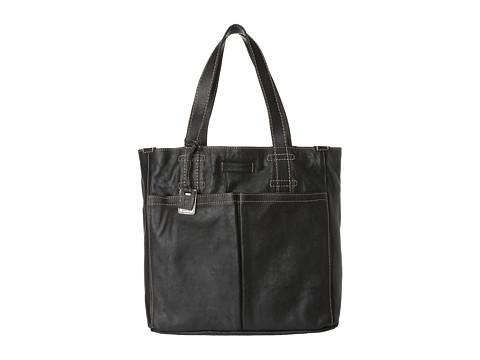 Frye - Artisan Pocket Tote (Black Hammered Full Grain) Tote Handbags
