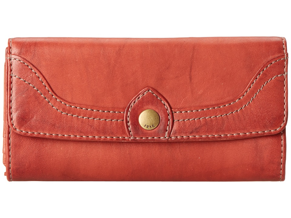 Frye - Campus Large Wallet (Burnt Red Dakota) Wallet Handbags