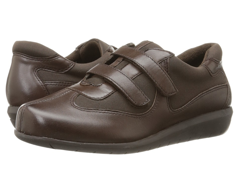 SoftWalk - Montreal (Dark Brown Burnished Soft Kid Leather/Stretch) Women's 1-2 inch heel Shoes