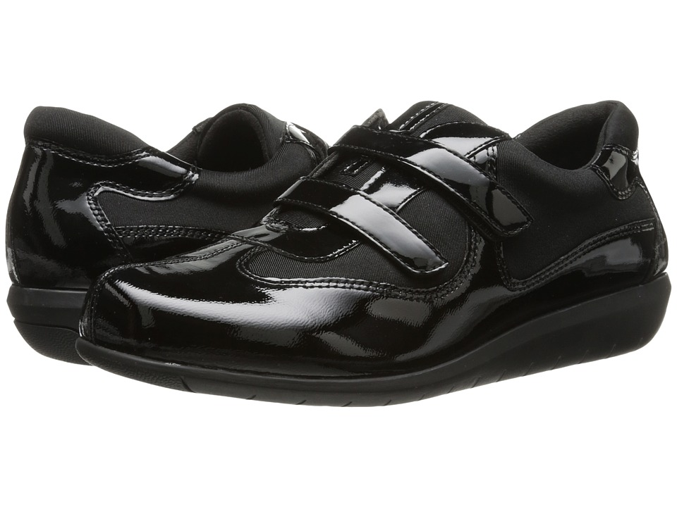 SoftWalk - Montreal (Black Patent Leather/Stretch) Women