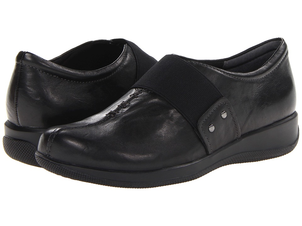 SoftWalk - Tanner Too (Black Vintage Waxy Wrinkled Leather) Women