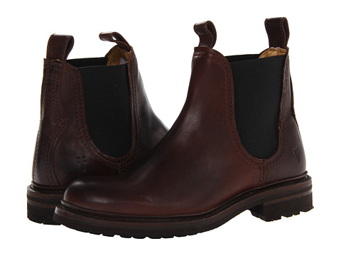 Frye - Freemont Chelsea (Dark Brown Essex) Men