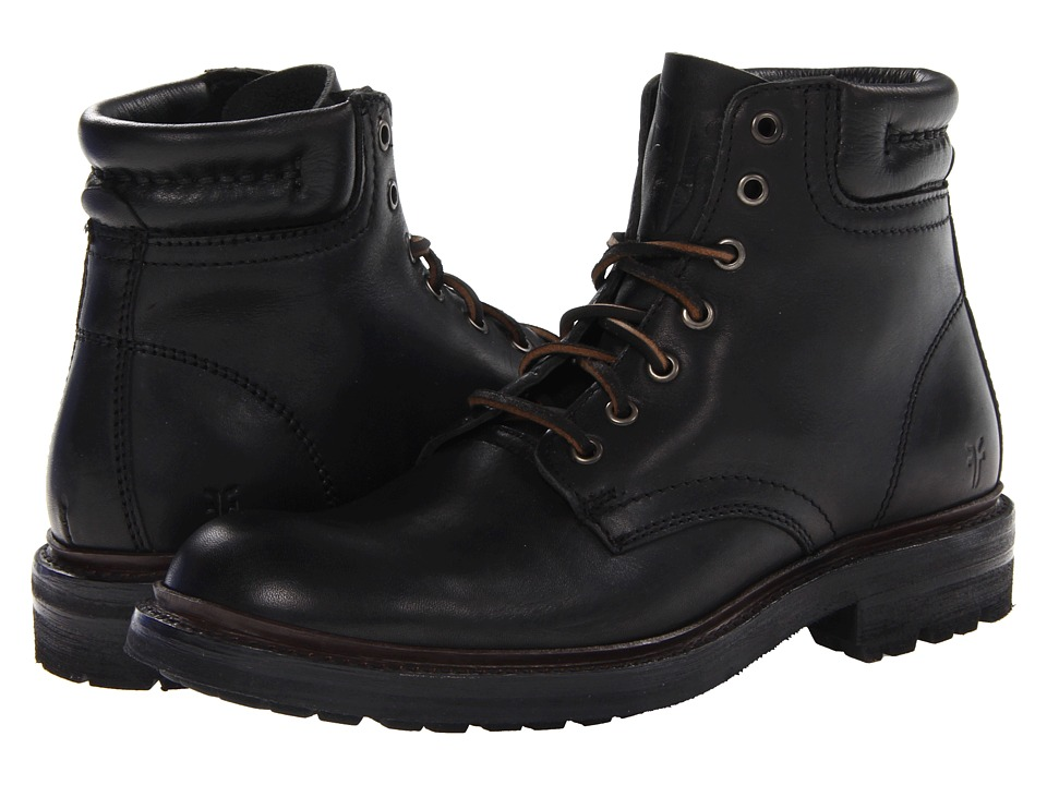 Frye - Freemont Lace Up (Black Essex) Men