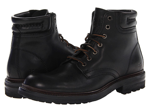 Frye - Freemont Lace Up (Black Essex) Men's Lace-up Boots