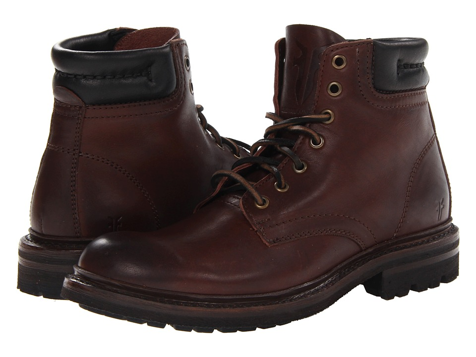 Frye - Freemont Lace Up (Dark Brown Essex) Men