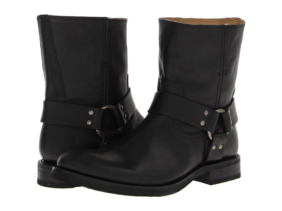 Frye - Jonathan Harness (Black Soft Vintage Leather) Men