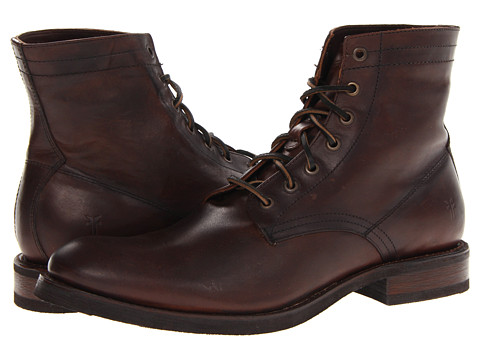 Frye - Jonathan Mid Lace (Dark Brown Soft Vintage Leather) Men