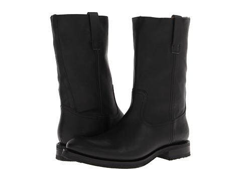 Frye - Jonathan Roper (Black Soft Vintage Leather) Cowboy Boots