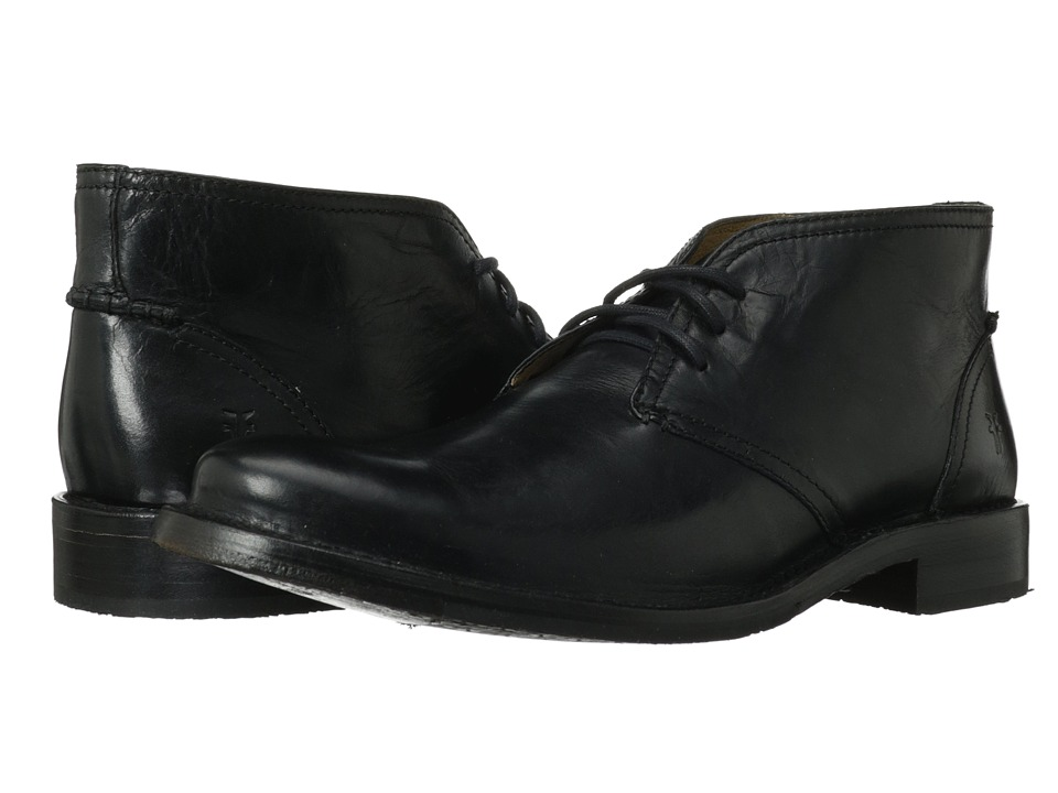Frye - Oliver Chukka (Black Antique Pull Up) Men's Lace up casual Shoes