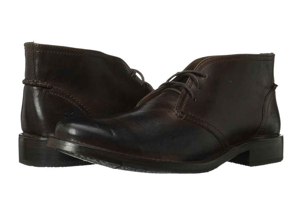 Frye - Oliver Chukka (Dark Brown Antique Pull Up) Men's Lace up casual Shoes