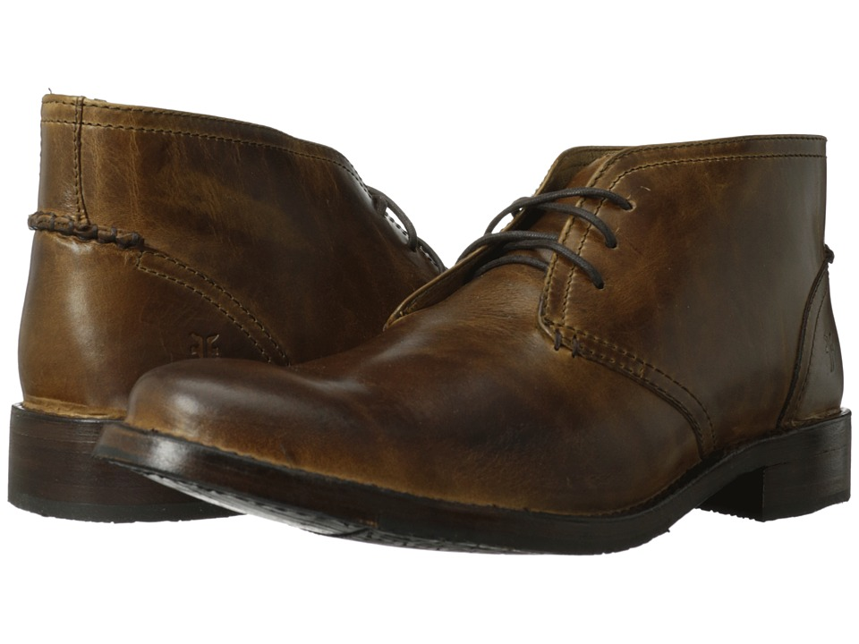 Frye - Oliver Chukka (Tan Antique Pull Up) Men's Lace up casual Shoes