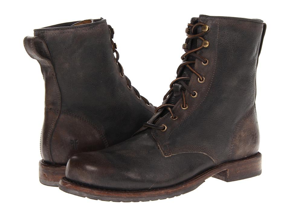Frye - Wayde Combat (Dark Brown Vintage Pull Up) Men's Lace-up Boots