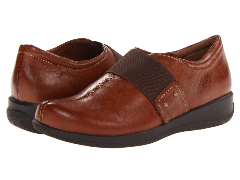 SoftWalk - Tanner Too (Cognac Vintage Waxy Wrinkled Leather) Women