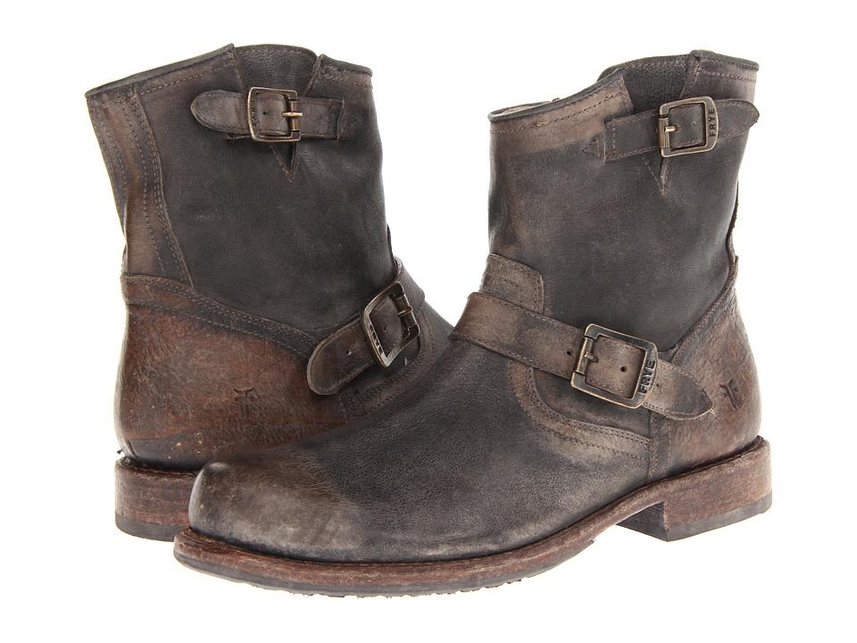 Frye - Wayde Engineer Inside Zip (Dark Brown Vintage Pull Up) Cowboy Boots