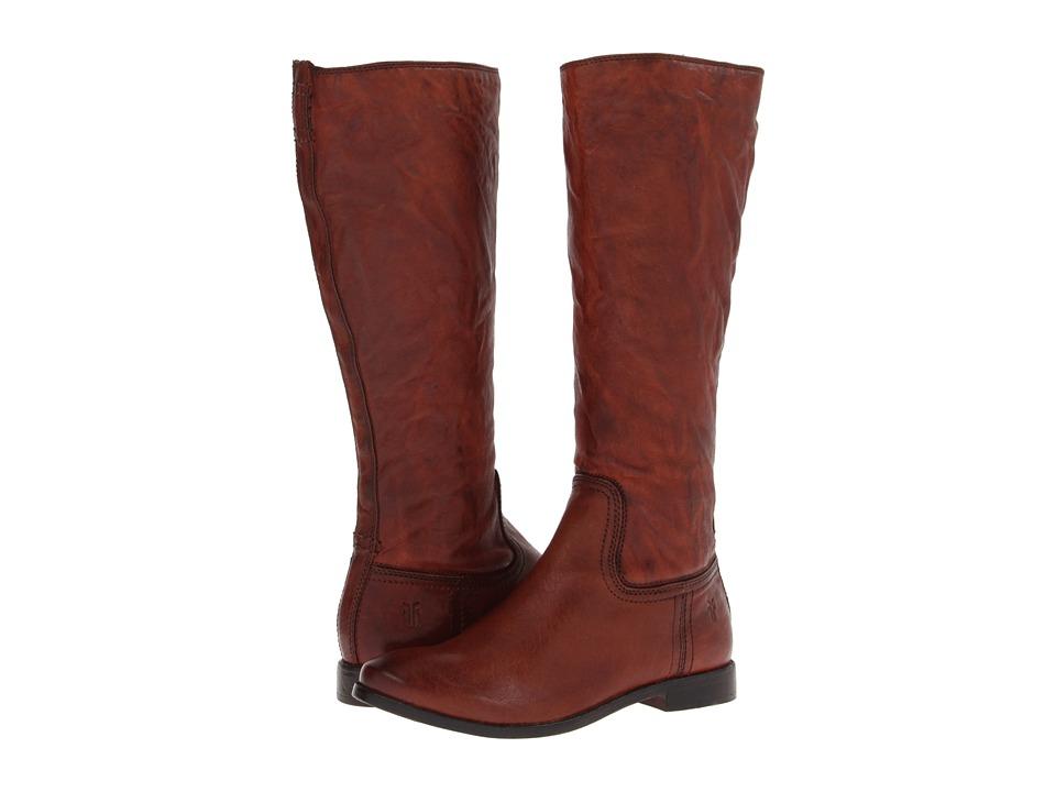 Frye Anna Inside Zip (Cognac Antique Soft Vintage) Cowboy Boots