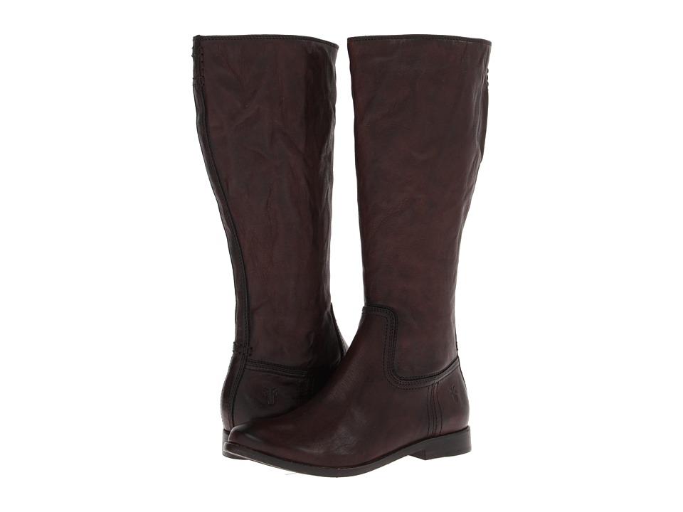 Frye Anna Inside Zip Dark Brown Antique Soft Vintage Cowboy Boots