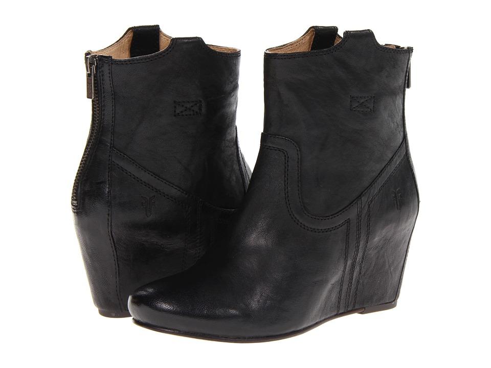 Frye - Carson Wedge Bootie (Black Antique Soft Full Grain) Cowboy Boots
