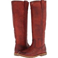 Frye Celia X Stitch (Burnt Red Dakota) Footwear