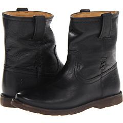 Frye Celia X Stitch Short (Black Dakota) Footwear