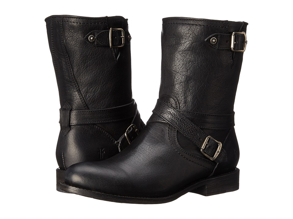 Frye Jayden Cross Engineer (Black Tumbled Full Grain) Women