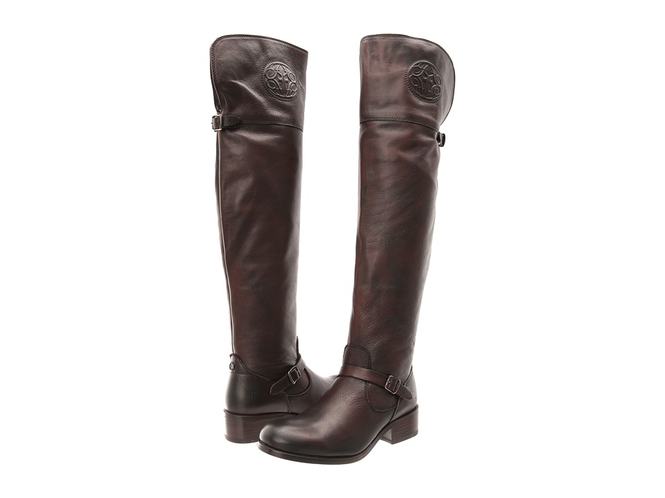 Frye - Lynn Logo OTK (Dark Brown Antique Soft) Cowboy Boots