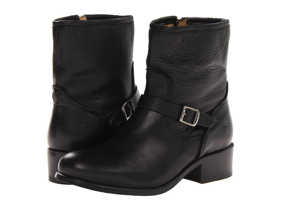 Frye - Lynn Strap Short (Black Soft Antique) Cowboy Boots
