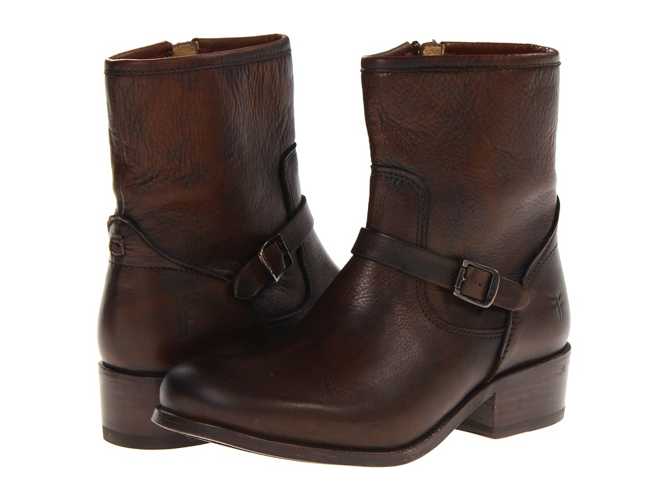 Frye - Lynn Strap Short (Cognac Soft Antique) Cowboy Boots