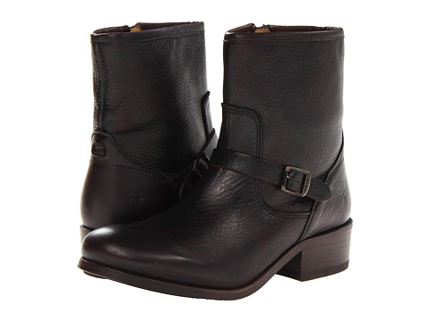 Frye - Lynn Strap Short (Dark Brown Soft Antique) Cowboy Boots