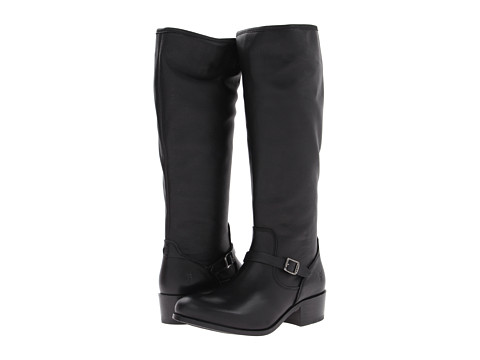 Frye - Lynn Strap Tall (Black Soft Antique) Women's Zip Boots