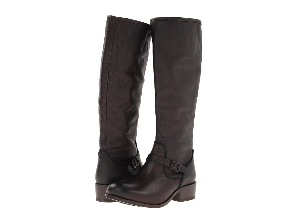 Frye - Lynn Strap Tall (Dark Brown Soft Antique) Women's Zip Boots